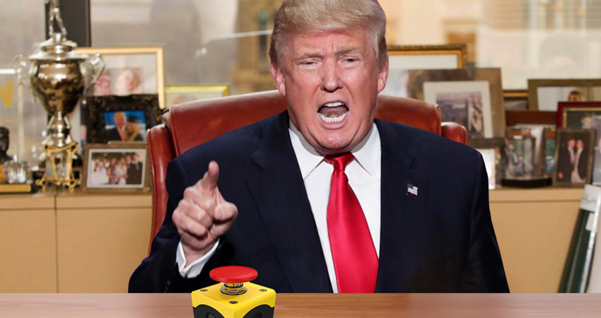 trump nuclear button madman